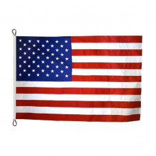American Flag 12x18 Feet Nylon SolarGuard Nyl-Glo , 100% Made in USA with Sewn Stripes, Embroidered Stars and Roped Heading.