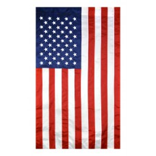 American Flag 2-1/2x4 Feet 2-Ply Woven Polyester Tough Tex, 100% Made in USA with Sewn Stripes, Embroidered Stars and Banner-Style Pole Sleeve.