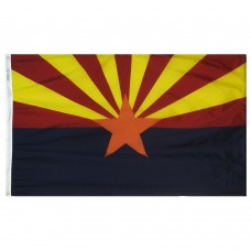 Arizona State Flag 3x5 Feet Nylon SolarGuard Nyl-Glo 100% Made in USA to Official State Design Specifications.