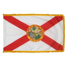 Florida State Flag 4x6 Feet Nylon with Pole Sleeve and Gold Fringe for Parades, and Indoor Display
