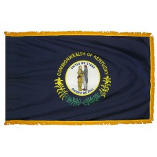 Kentucky State Flag 4x6 Feet Nylon with Pole Sleeve and Gold Fringe for Parades, and Indoor Display