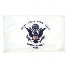 U.S. Coast Guard Military Flag 5x8 Feet Nylon SolarGuard Nyl-Glo 100% Made in USA to Official Specifications. Officially Licensed Manufacturer.