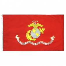 U.S. Marine Corps Military Flag 4x6 Feet Nylon SolarGuard Nyl-Glo 100% Made in USA to Official Specifications. Officially Licensed Manufacturer.