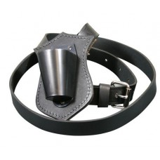 Parade Carrying Belts - Single Leather Black