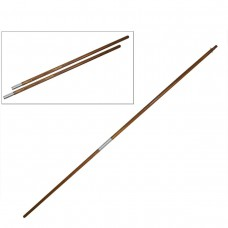 HIghly-Polished Oak Finish Poles 125W 12ftx1 3-8in